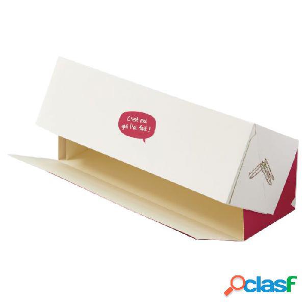 Caja transportadora de cartón blanco (35 x 12 x 11 cm)