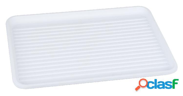 Bandeja para escurreplatos de plastico blanco (33 x 44 cm)