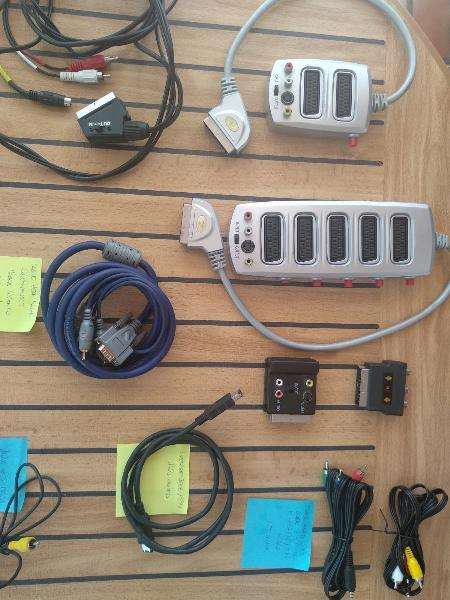 Cables, euroconector, audio rca, audio jack..