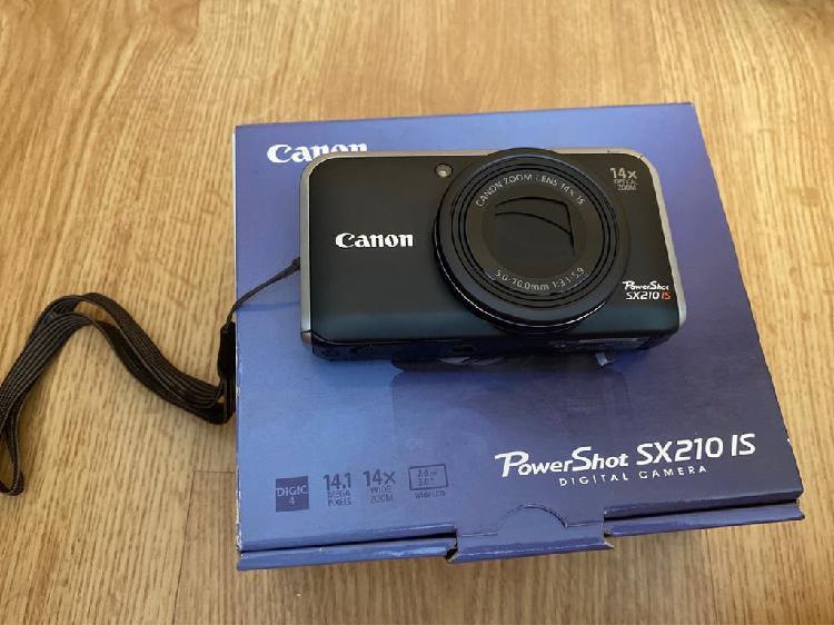Cámara digital canon powershot sx210 is