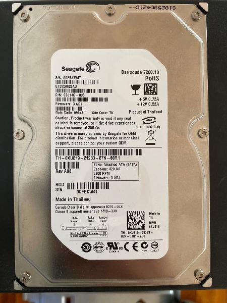 Disco duro hdd 320 gb