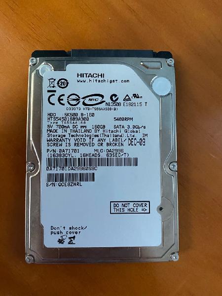 Disco duro hdd 160gb + estuche externo