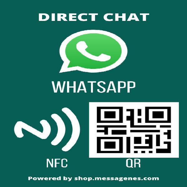 Etiqueta adhesiva qr/nfc para whatsapp