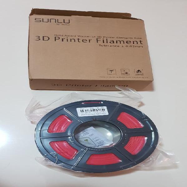Filamento pla+ rojo para impresora 3d precintado