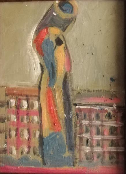 Jordi curós. escultura. oli sobre tela
