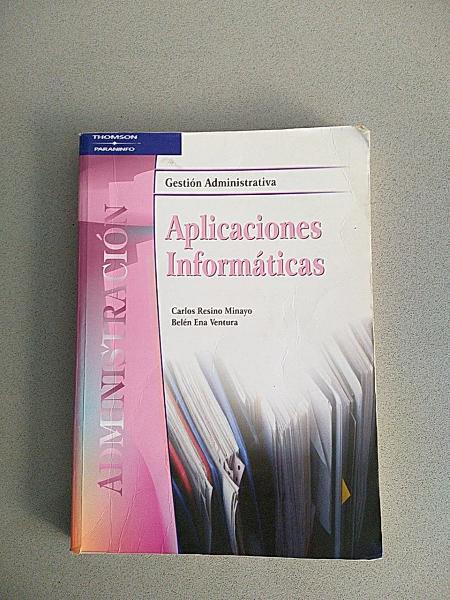 """Libro de texto """"aplicaciones informáticas"""""""