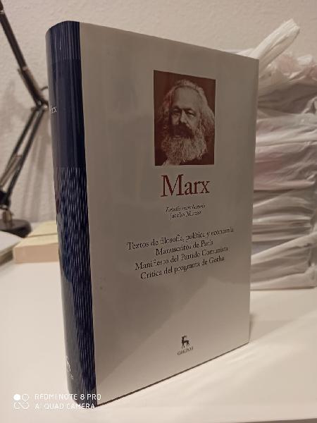 Marx, textos de filosofía, política y economía.