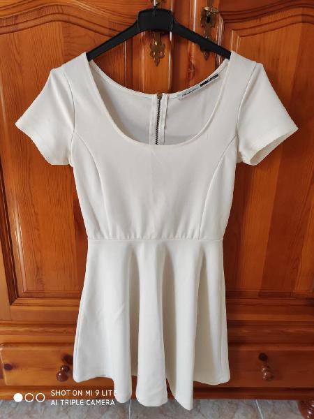 Vestido liso blanco
