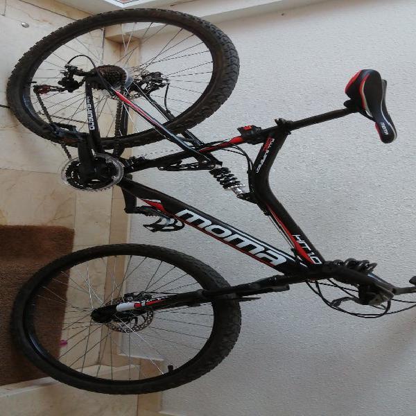 Bici doble suspensión moma nueva vale 350€