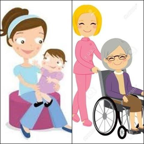 Cuidadora mayores o niños tb tareas hogar