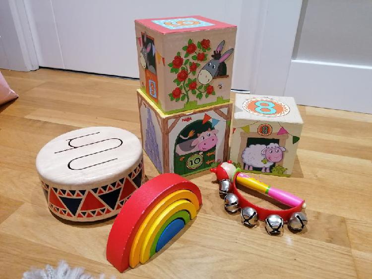 Lote juguetes madera