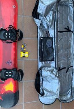 Equipamiento completo de snowboard