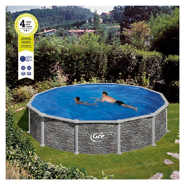 Gre piscina circular desmontable córcega