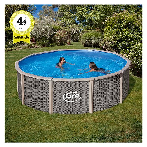 Gre piscina circular desmontable fusión pool