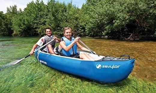 Kayak hinchable sevylor adventure bidon estanco