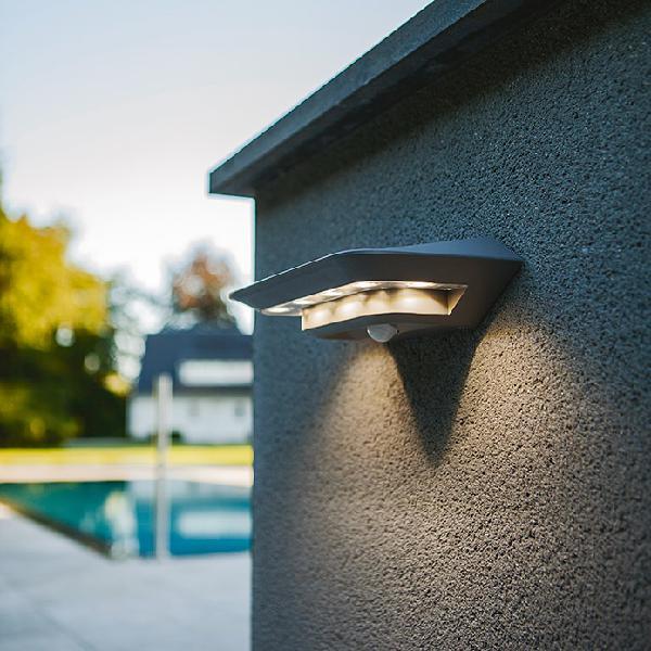 Lutec aplique solar para exterior ghost solar