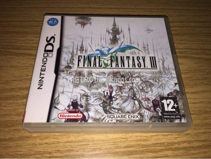 Se vende Final Fantasy III NDS nuevo