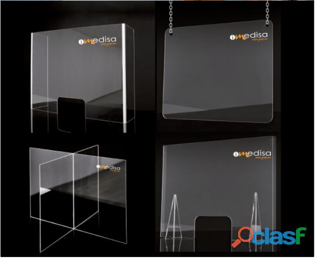Fabricación a medida y personalización de mamparas de metacrilato transparente