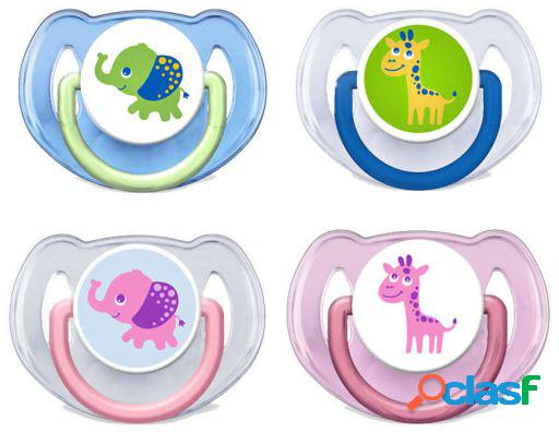 Avent chupetes decorados 6 a 18 meses 2 uds