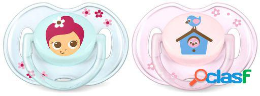 Avent chupetes classic 0 a 6 meses 2 uds