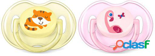 Avent chupetes classic animales 0 a 6 meses 2 uds