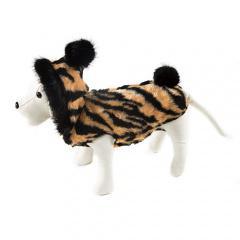 Abrigo calentito para perros chic con estampado atigrado