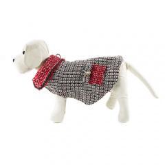 Abrigo para perros anastasia en blanco y negro