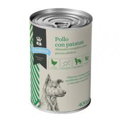 Alimento húmedo para perros criadores pollo con patatas