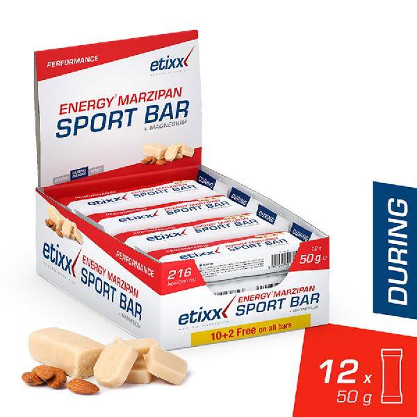 Barrita etixx energy bar marzipan (12 unidades)