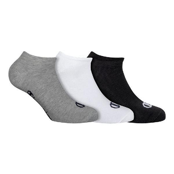 Calcetines champion no show blanco negro gris (3 pares)
