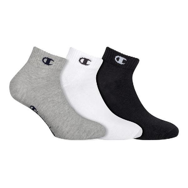 Calcetines champion one blanco negro gris (3 pares)