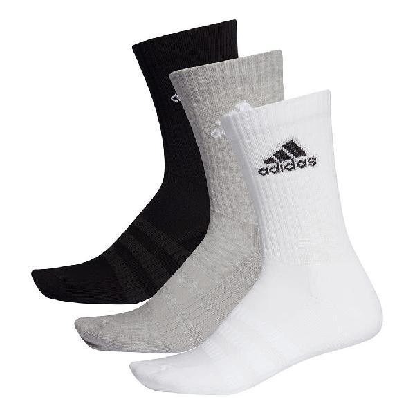 Calcetines adidas cushioned crew blanco gris negro (3 pares)