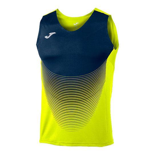 Camiseta joma elite vi sin mangas azul amarillo