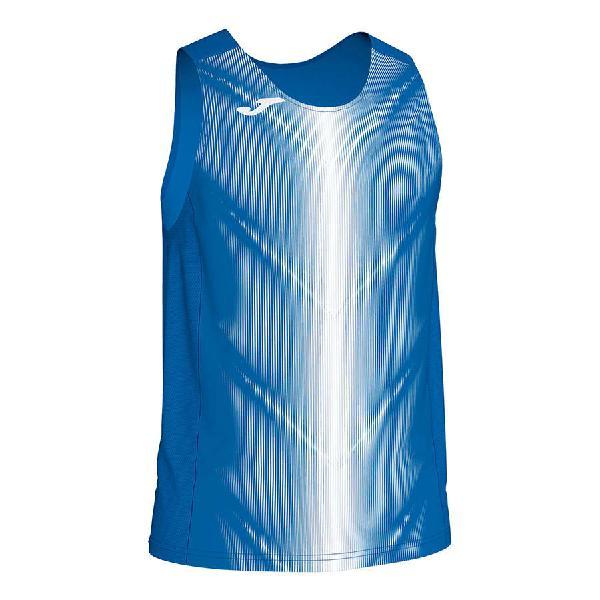 Camiseta joma olimpia sin mangas azul blanco