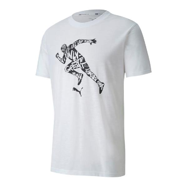 Camiseta Puma Performance Graphic manga corta blanco negro
