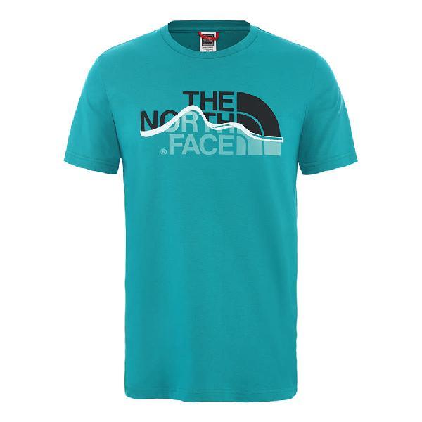 Camiseta the north face mount line manga corta turquesa