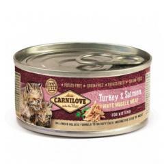 Comida húmeda carnilove turkey & salmon gatitos