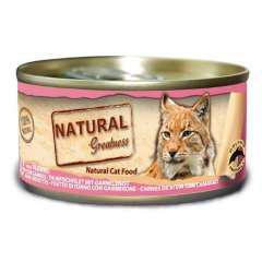 Comida húmeda natural greatness atún y gambas para gatos