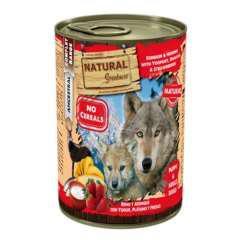 Comida húmeda natural greatness reno, arenque y yogur para