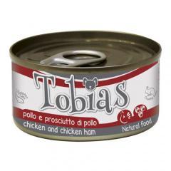 Comida húmeda natural de pollo y muslo de pollo tobias