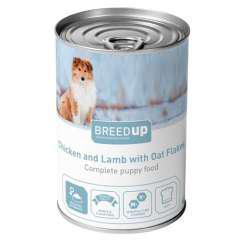 Comida húmeda para perros breed up puppy de pollo y cordero
