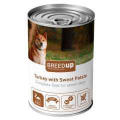 Comida húmeda para perros Breed Up Senior de pavo con