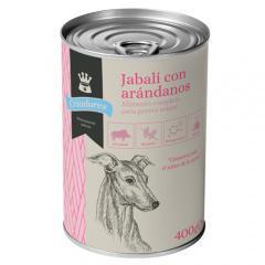 Comida húmeda para perros senior criadores de jabalí con