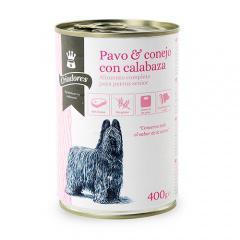 Comida húmeda para perros senior Criadores de pavo y conejo