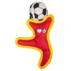 Figura con pelota de fútbol para perros
