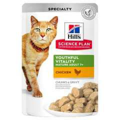 Hill's youthful vitality 7 húmedo para gatos con pollo