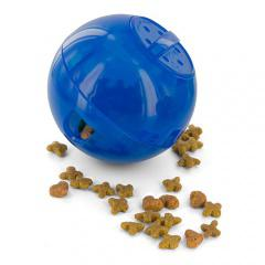 Juguete para gatos slimcat pelota portagolosinas azul