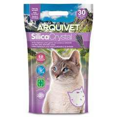 Lecho silica crystal lavanda para gatos olor lavanda