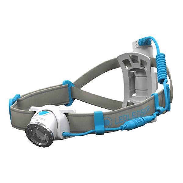 Luz frontal led lenser neo10r recargable 600 lm gris azul