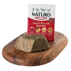 Naturo cordero con arroz para perros